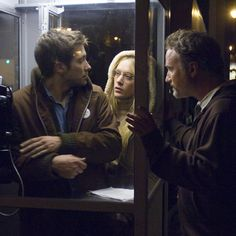 """"""" David Fincher with Jake Gyllenhaal and Chloë Sevigny behind the scenes of Zodiac """" Movie Creator, Incredible Film, Rock & Pop, David Fincher, Film Watch, Chloe Sevigny, Welcome To The Party, Jake Gyllenhaal, Robert Downey Jr"""