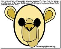 máscara de camello para imprimir y usar