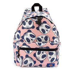 Women Panda Pattern Printing Canvas Backpack