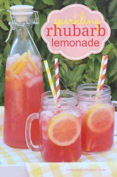 Sparkling Rhubarb Lemonade. Add vodka!