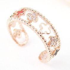 Cute Rings for Teens | Womens cross ring pink rose gold multi color cross wrap ring size free ...