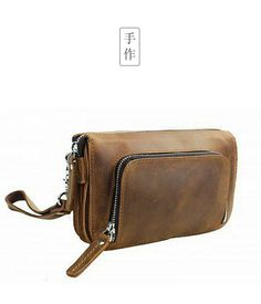 2fbe14abd9bb Handcrafted cowhide leather clutch purse wristlet from Vagabond Traveler.  You d love how it