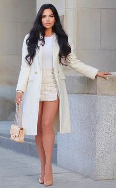 Glamouröse Outfits, Cute Casual Outfits, Fashion Outfits, Womens Fashion, White Fashion, Look Fashion, Luxury Fashion, Classy Women, Sexy Women