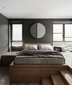 44 Glamorous Loft Style Bedroom Designs Ideas To Try Right Now - Do you want to extend the living capacity of your home, then why not convert your loft space into a bedroom? Bedroom loft conversions are becoming the. Loft Style Bedroom, Master Bedroom Design, One Bedroom, Bedroom Decor, Bedroom Designs, Loft Stil, Scandinavian Style Home, Loft Spaces, Interior Design Studio
