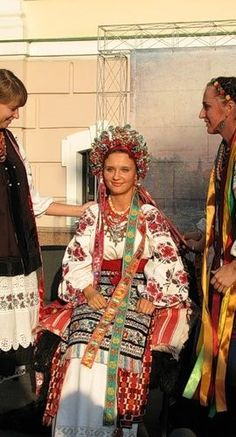 Ukrainian wedding dress. I wonder if my grandmother, Anna, looked like this when she married my grandfather, Vasily.