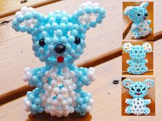 Beaded koala bear3D Beaded Animal Figurine sitter by JajaCreations, $9.99