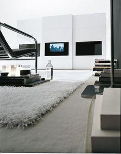 contemporary sliding door wardrobe with TV screen integrated DAMA Presotto Italia