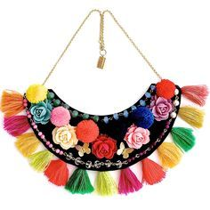 Discover recipes, home ideas, style inspiration and other ideas to try. Fabric Necklace, Fabric Jewelry, Diy Jewelry, Jewelery, Crochet Necklace, Jewelry Accessories, Jewelry Design, Jewelry Making, Estilo Hippie