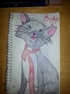 Hey guys! I never post anything,  and this is one of my better drawings, so please try to enjoy my attempt at drawing Berlioz from the aristocats! (Critique is 100% welcome by the way!)