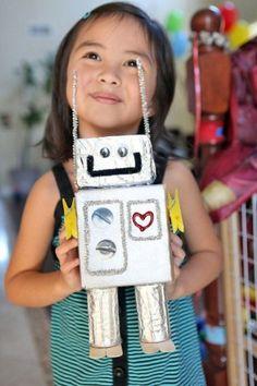 Retro robot, leuk om te maken met kinderfeestje