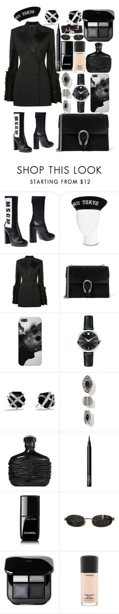 """4:44 Album Release Party"" by saav003 ❤ liked on Polyvore featuring MSGM, Y/Project, Gucci, Movado, David Yurman, NARS Cosmetics, Chanel, Tom Ford, MAC Cosmetics and Alexander McQueen"