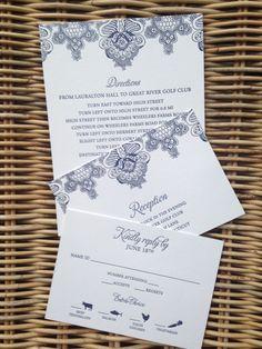 Lacy wedding invitation. Letterpress. Bar Mitzvah Invitations, Wedding Invitations, Wheeler Farm, Addressing Envelopes, Bat Mitzvah, Letterpress, Save The Date, Reception, Stationery