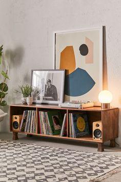 Boho Living Room, Living Room Decor, Bedroom Decor, Living Room Vinyl, Storage Ideas Living Room, Vinyl Record Storage Shelf, Vinyl Shelf, Storage Shelving, Vinyl Record Display
