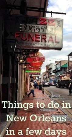 Things to do in New Orleans in a few days - to book contact me at www.facebook.com/MagicalMomentsVacationsbyDBostic
