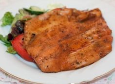 This just might be the best salmon you will ever have! Plan ahead the salmon needs to chill for hours. This recipe may be reduce to half if desired. Bbq Salmon In Foil, New Recipes, Cooking Recipes, Favorite Recipes, Grilled Teriyaki Salmon, Salmon Dishes, Salmon Food
