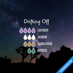 Drifting Off Essential Oils Diffuser Blend ••• Buy dōTERRA essential oils online at www.mydoterra.com/suzysholar, or contact me suzy.sholar@gmail.com for more info.