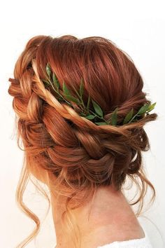 Braid updo Hairstyle For Long Hair | Wedding Hairstyle #halfuphalfdown #braidupdos #bridehair #weddinghair #updo #weddingupdos #braidupdo #braids #bridalupdo #weddingupdoideas