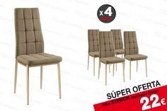 4 sillas ZURICH Beige 22 € /u. Outdoor Chairs, Outdoor Furniture, Outdoor Decor, Color Beige, Zurich, Home Decor, Salon Chairs, Upholstered Chairs, Decoration Home