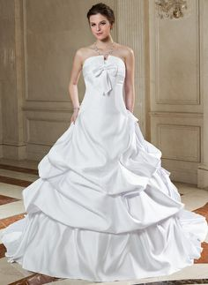 Ball-Gown Scalloped Neck Chapel Train Satin Wedding Dress With Ruffle Bow(s) (002000659) http://www.dressdepot.com/Ball-Gown-Scalloped-Neck-Chapel-Train-Satin-Wedding-Dress-With-Ruffle-Bow-S-002000659-g659 Wedding Dress Wedding Dresses #WeddingDress #WeddingDresses