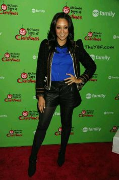 Leather Shorts|Actress Tia Mowry