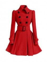 Breasted Stunning Small Lapel Overcoats