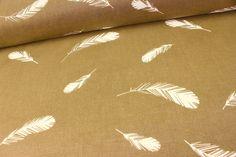 Bio - Baumwolle - Birch Fabrics - Feathers Braun auf alles-fuer-selbermacher.de