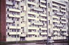 Bloc în București, anii 60. foto: Cornell University-John Reps Collection Cornell University, Bucharest, Multi Story Building, Awesome, Places, Collection, Lugares