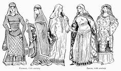 Norman and Saxon Fashion 12th C.