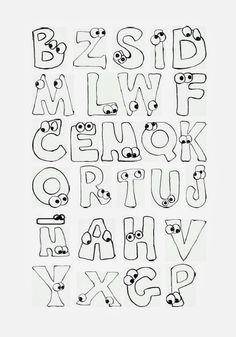 letras para marcar cuadernos abecedario imagui Alphabet, Lettering, Math, Bench Seat, Scrappy Quilts, Decorated Notebooks, Sketchbooks, Animal Templates, Alpha Bet