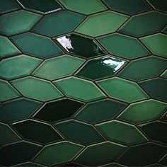 Photo by @abanke1 Gorgeous shot of the green tiles in the Heath Ceramics Showroom!