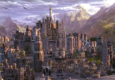 Gondolin is a Ñoldorin city in the valley of Tumladen in Middle-Earth. It was founded by Turgon, son of Fingolfin and destroyed in the War of the Jewels in the First Age.