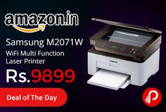 Amazon #LightningDeal is offering 18% off on Samsung M2071W WiFi Multi Function Laser Printer Just At Rs.9899. Tap your compatible phone or tablet to print or fax from your device. Or scan an important document and send it directly to your phone.   http://www.paisebachaoindia.com/samsung-m2071w-wifi-multi-function-laser-printer-just-at-rs-9899-amazon/
