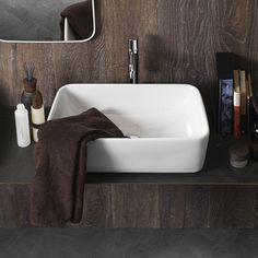 I like this basin and the measurements are good: 570Wx32Dx19H Consider mounting the tapware on the side rather than on the back for easy access for little people.