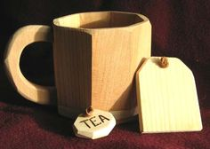 Toy All Wood Tea CupWith Tea Bag Just Right Size by cattoy4, $9.50