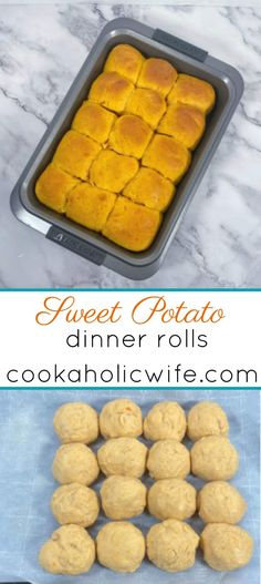 Sweet Potato Dinner Rolls are perfect for slider sandwiches or a dish on your Thanksgiving table. #sweetpotatoes #yeastrolls #baking #dinnerrolls