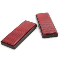 2 개 빨간색 플라스틱 반사 경고 플레이트 테이프 스티커 자동차 트럭 안전