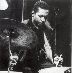 Rare Photo of John Coltrane playing drums