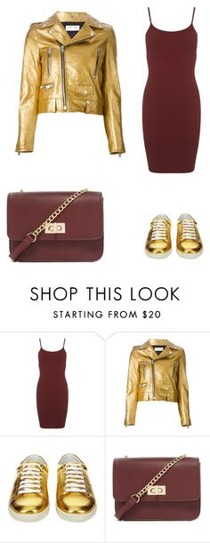 gold&bordo by modelier on Polyvore featuring мода, Miss Selfridge, Yves Saint Laurent, Forever 21, women's clothing, women's fashion, women, female, woman and misses