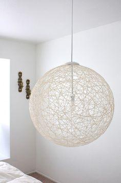 mooie lamp van touw