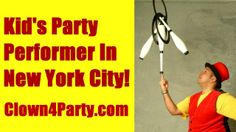 Kid's Party Performer In New York City! For More Info Visit: http://www.Clown4Party.com I have been a Children's Entertainer for over TEN years and have performed for thousands of children at Birthday Parties and Private Events. In The Show I perform Juggling, Magic Tricks, Giant Bubbles, Balloon Animals, Face Painting, Party Games, Ukulele Sing-a-Longs & Much More! LOCATIONS: NYC, New York City, NY, Manhattan, Brooklyn, Queens, The Bronx, Staten Island, Westchester, Yonkers, Scarsdale