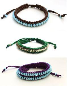 How to Make Beaded Crochet Bracelets | eHow.com