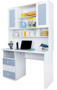 Amazing white storage and study table.