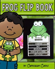 All About FROGS! Reading comprehension activities and craft! Includes life cycle of a frog. Reading Comprehension Activities, Reading Passages, Lifecycle Of A Frog, Frog Life, 1st Grade Science, Science For Kids, Life Cycles, Science Experiments, Frogs