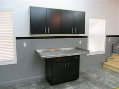upper ikea; lower craigslist; The Turbo Garage | Garage Cabinets and Workbenches