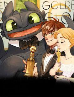 If Anna was in Httyd 2...(AT DA GOLDEN GLOBES)