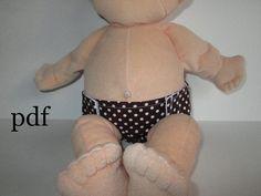 Baby Stella 15 inch doll PDF diaper pattern  Baby by karlindeelane