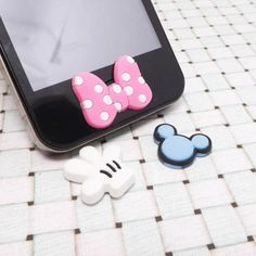 Cute Pink Minnie Bowknot Mickey Mouse Palm Head Disney Cartoon Home Button Sticker for iPhone 3,4/4s,5,ipad 2,3,4,iPod Touch 2,3,4,5 on Etsy, ₱113.24