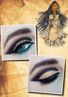 Disney eye makeup #Pocahontas #Disney