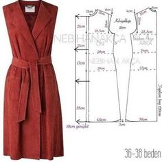 Wrap dress with square front that forms lapels