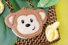monkey birthday party adorable cookies